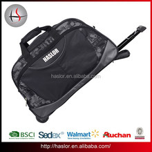 High sale custom waterproof wheeled duffle bag with high quality
