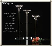 Moda crystal candle holder, cristal candelabro para la decoración del hogar
