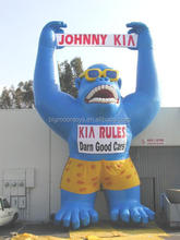 giant inflatable swimming monkey for advertising