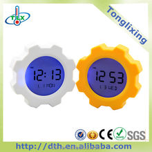 Digital transparent lcd alarm clock with Pop-up digital alarm clock for Calendar clocks for elderly