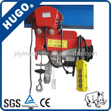 Superior HUGO wireless remote control electric hoist with monorail trolley