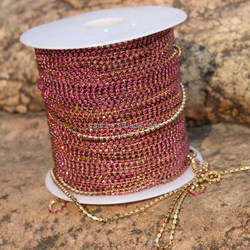 hot Wholesale strass roll red color rhinestone close cup chain rhinestone lace roll chain sewing strass chaton