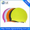 customized logo printed waterproof silicone swimming cap,ear protection swim cap