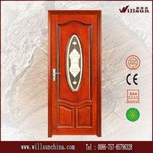 Puerta de entrada de madera puertas interiores de lujo sólidos