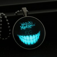 New Fashion Hot Sale Halloween Punk Face-period Luminous Pendant Necklace Retro Jewelry for Women Gift Free Shipping