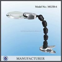 MG3B-6,plastic fresnel lens illuminated magnifier for elderly