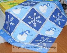 Snow man printed comfortable children bedding quilt, cheap child quilt