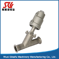 "Hot selling Angle-Seat Valve 1 1/2"" size (1 1/2""clamp) with pneumatic actuator made in china"