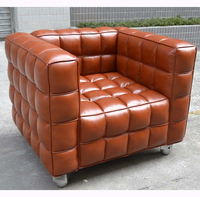2015 Hot Sale Classic Brown PU Leather 1 Seater Sofa(SDXT203)