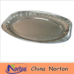 Disposable Aluminum Foil Plates /Aluminum Foil Food Container For Bakery NTP- ALF107B