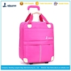 Pink Travel bags factory sale travel bags with compartments travel trolley luggage bag on wheels