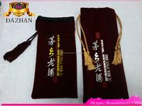 high quality velvet wine bottle bags with tassel and bead