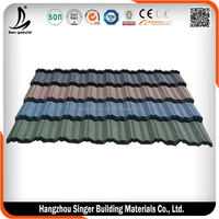 Colored Stone Coated 0.4 mm Thickness Galvanized Zinc Steel Roof Tile