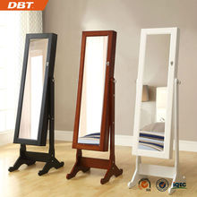 Wooden rotating display stand mirror cabinet for bedroom
