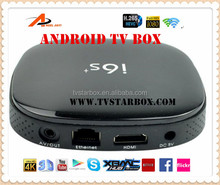 hottest android quad core tv box 4k 3d h.265 full hd media decoder android iptv set top box i6s