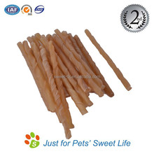 Size Customizable Natural Color/Bleached Rawhide Dog Chewing Sticks
