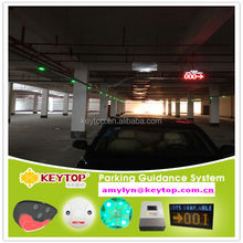 smart car parking guidance system with Key-TS06.1 ultrasound detector and Key-B02.1 green/red parking space led indicator