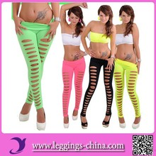 2015 Hot Fashion Women Tight Ripped Torn Leggings