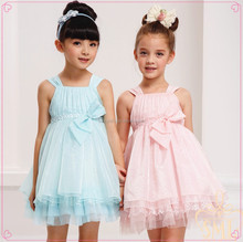 Slip sex baby dress,elegant two color party wear,new party girl dress