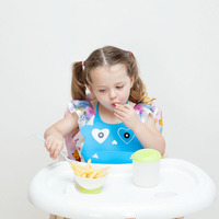 easy carry coloful soft safe cheap silicone plain baby bib BBC10