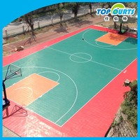 Popular colorful university basketball floor