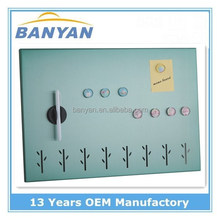 Decorative stainless steel magnetic message board memo board