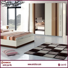 Artificial oak solid wood bedroom fitted wardrobes