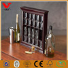 Wholesale price shot glass display cases with front loading design