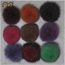 2015 MBA Furs Fluffy Genuine 8-15cm Colorful Fox Fur pompon