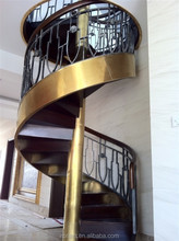 Hot sale spiral staircase iron stairs for outside price
