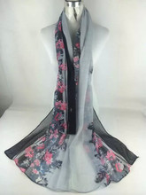 Bright colors soft touching Silk Scarf Poly Scarf Cashmere Scarf