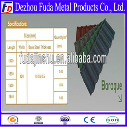 Color stone Coated Japanese Metal Roof Tiles price
