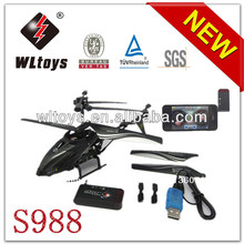 Wl juguetes s988 2.4g 3.5 canal iphone redio control <span class=keywords><strong>helicóptero</strong></span> del rc