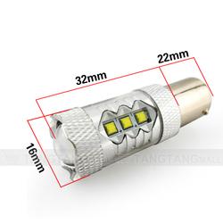 Newest S25 1156 1157 Ba15s Bau15s 80w auto cree led bulbs