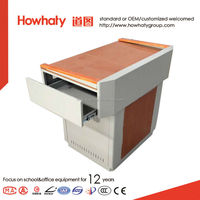 wooden handrail Multimedia platform/podium teaching equipment