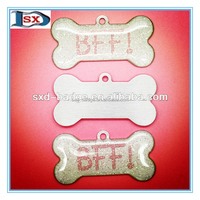 100% factory Metal custom shaped qr code pet tag id dog tag with epoxy for outlet