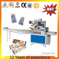 Flow wrap packaging equipment for biscuit/bread