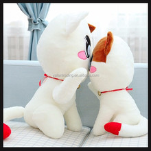 long tail cute plush toy cat cushion super soft