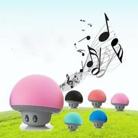 Mini Mushroom Easily Sucked Portable Wireless Bluetooth Speakers