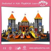 Kindergarten Outdoor Kid Toys with Long Slides and Swing