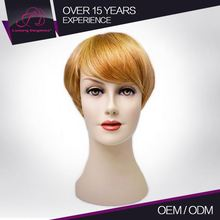 Factory Price Real Virgin Straight Short Brazilian Human Hair Wigs Blonde