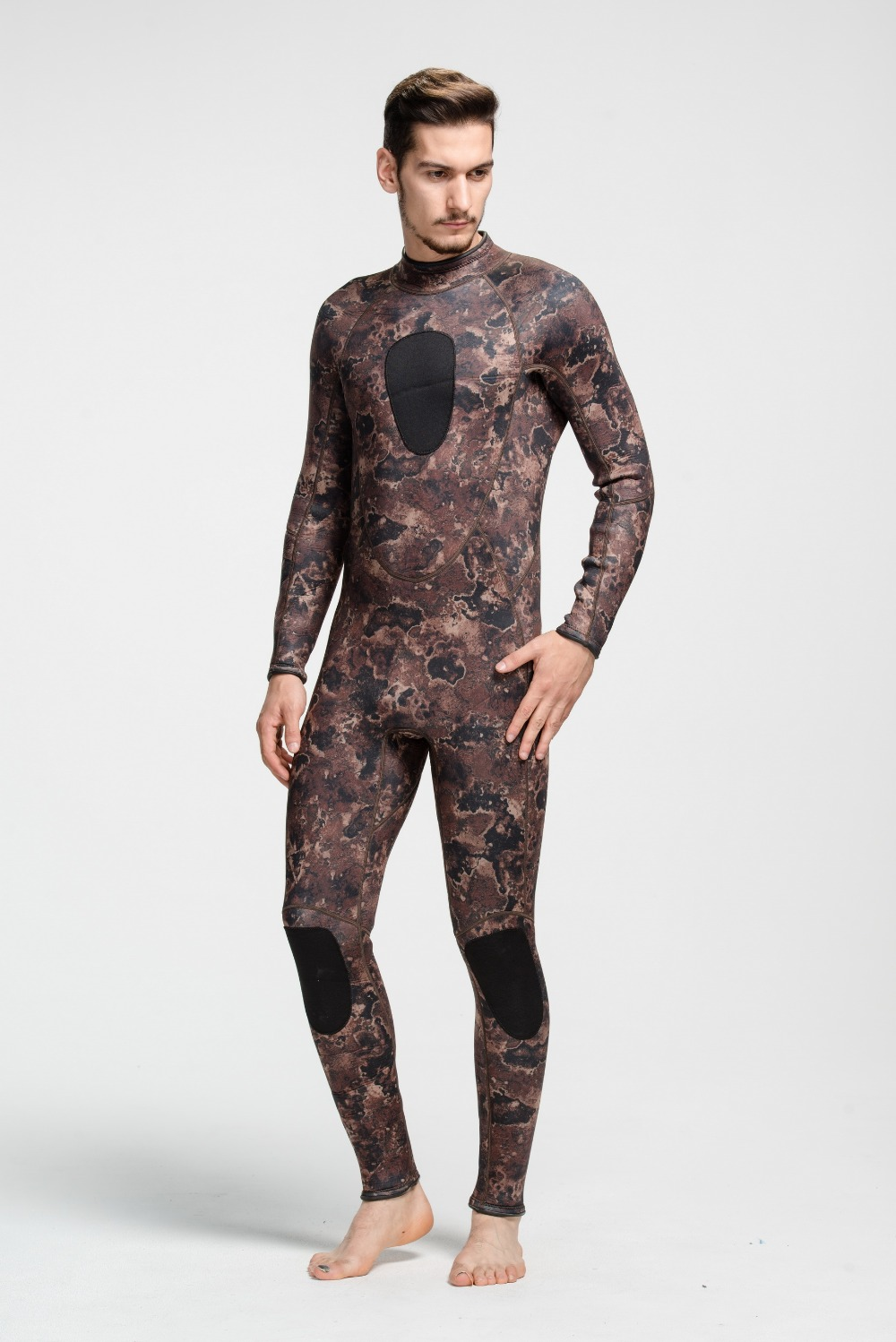 3mm neoprene custom dive short sleeve neoprene dive full camo surfing wetsuits