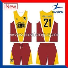 Healong Factory Winter Cheap Youth Basketball Jerseys