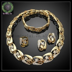 18 Carat Gold Crystal Star Shaped Set African Gold Plating Jewelry Set