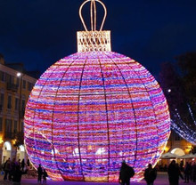 2015 giant light ball outdoor christmas decoration