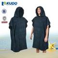 un tamaño encaja todo negro de algodón playa de cambio de traje