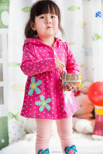 Spring &autumn new arrival dot printed frock design for sweet babies