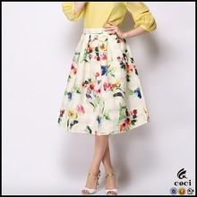 CCS025 2015 Fashion Printed Skirts wholesale long printed skirts