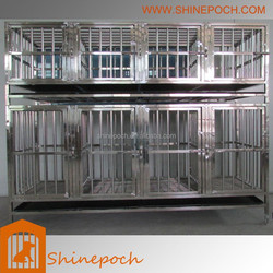 customizable combination folded stainless steel pet hotel cage SED1-001B