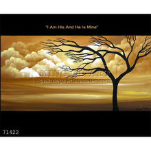 Handmade modern abstract Wall decoration Landscape Oil Painting, I Am His And He Is Mine-trees